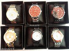 New Wholesale Joblot of Assorted Quartz Mens Wrist Watches in Box x6 x10 x15 x25