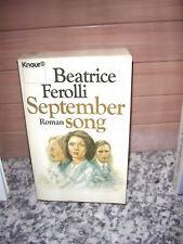 Septembersong, ein Roman von Beatrice Ferolli