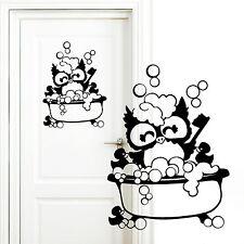 """pegatinas de puertas: """" Baño búho """"de wandtattoo-loft 11100 Cuarto bañera"""