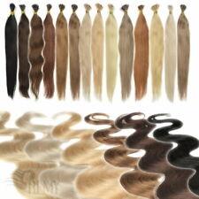 1g I Tip Bonding Strähnen 45 60 cm 100% Remy Echthaar Microring Haarverlängerung