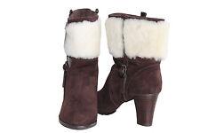 Lady Fashion High Heel Australian Sheepskin UGG Boots Color Chocolate Multi Size