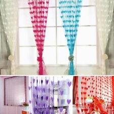 Heart Shaped Door Window Hanging String Curtain Net Cute Kids Bed Room Divider