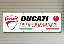 DUCATI Performance Logo Banner in PVC per il tuo Workshop Garage o uomo grotta