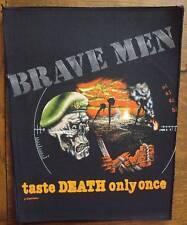 Vintage 90s Large Sew-On Patch: Brave Men Taste Death