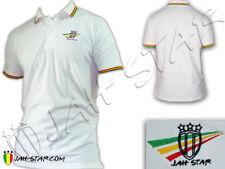 Polo Shirt Reggae Rasta Roots Rastafari Jah Star Logo Brodé