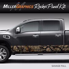 "Camo ""Savage Fall"" Rocker Panel Graphic Decal Wrap Kit Truck - 12"" x 30 feet"