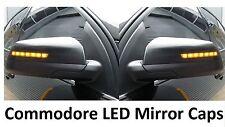 Holden Commodore VE Omega Black LED mirror covers amber blinkers sedan wagon ute