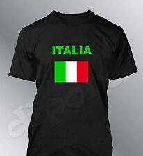 T-shirt Italia supporter calcio uomo calcio bandiera Italia bandiera euro