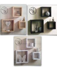 Estantes Flotantes Cuadrado Cubo 3 montaje en pared para emocionantes de cualquier habitación
