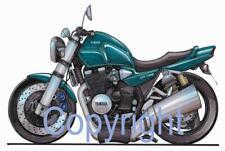Koolart Motorbike - Yamaha XJR 1300 Metal Keyring - 1300