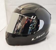 LS2 FF353 RAPID FULL FACE MOTORCYCLE HELMET GLOSS BLACK WITH CHROME MIRROR VISOR