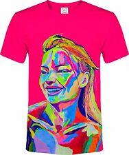 Top Famous Girl Pink Boss Blacklight UV Neon Reactive Fluorescent T-Shirt