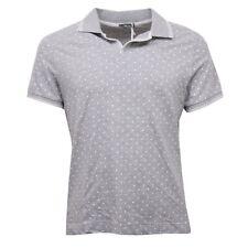 C7278 maglia uomo XBRAND polo grigio/bianco pois t-shirt man