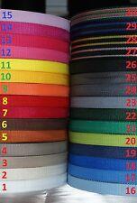 Gurtband 4 Meter oder 12 Meter, 20mm breit, 1,4 mm dick in 30 Farben