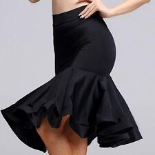 Women Sexy Latin Dance Fishtail Skirt Dress Salsa Tango Ballroom Rumba Dancewear