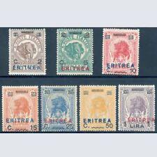 Colonie 1924 Eritrea n. 80/86 Nuovi Integri **