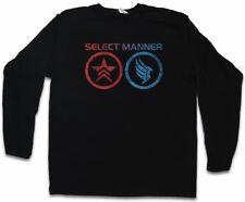 SELECT MANNER LONG SLEEVE T-SHIRT Commander Mass Good Effect Evil Sheppard