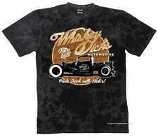 T SHIRT BATIK BLACK v8 Oldschool Hot Rod US Car &' 50 STYLE Motivo Modello whisky di