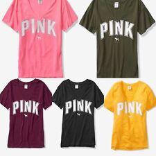 Victoria s Secret Pink Boyfriend V-Neck Jersey Tee T-Shirt Oversized Great  Gift 116d0e997