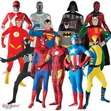 2nd Skin Super Hero Fancy Dress Zentai Lycra Skinz Bodysuit Costume Adult New