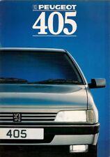 Peugeot 405 Saloon 1988 UK Market Sales Brochure GE GL GR SRi GTX Mi16