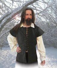 Gothic Mittelalter Jacke Weste Wams Samt Baumwolle rot schwarz grün S M L XL