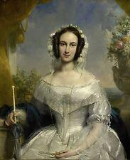 Jan Adam Kruseman Agatha Petronella Hartsen in her Wedding Dress Canvas Print