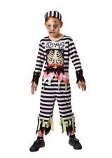 Childs Skeleton Prisoner Halloween Fancy Dress Costume Age 5 - 9
