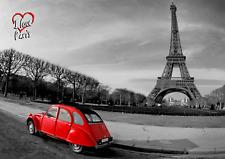 "3D Lenticular Postcard - Eiffel Tower ""I Love Paris"""