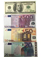 BOB Bi-Fold Mighty Canvas Wallet Bank Paper Note Money Pouch Dollars Euros