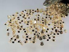 Light Champagne 3mm Round Cut Stones Cubic Zirconia Loose Gemstones Lot