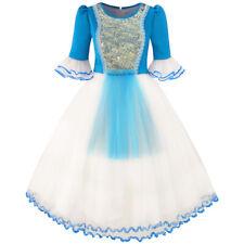 Vestito Bambina La neve Bianco Principessa Cartoon Sirena Partito Costume Palla