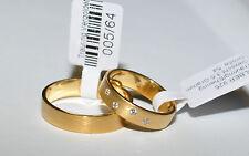 1 Paar Trauringe - Silber 925 vergoldet - Gelbgold 24 K - 5µ  - Top Qualität !!