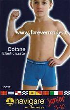 6 Boxer da bambino Navigare in cotone con elastico esterno loggato art 13022
