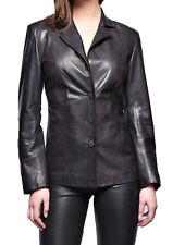 Women's Stylish Classic Genuine Lambskin Nappa Leather Blazer WB 17