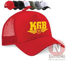 KGB retro cold war USSR communism Half mesh retro trucker baseball cap hat