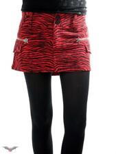 QUEEN OF DARKNESS Red Zebra Zipper Mini Skirt