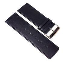 Herzog Plage Bracelet montre bracelet de rechange cuir de veau BANDE NOIR 23330s