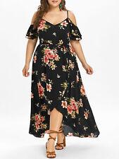 Plus Size L-5XL Womens Boho Floral Beach Summer Evening Party Long Maxi Dress
