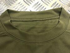 Genuine British Military Mesh T-Shirt Anti Static Self Wicking Olive Green - NEW