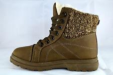 Schnüren Damen Schuhe Stiefeletten Boots Schnürschuhe Gr.36-41 Braun Neu A.301