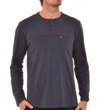Bench Regent Longsleeve dünner Pulli Shirt Blau Blue BMGA3072 M2116 GY031