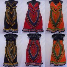 Womens Dashiki African dress Girls Hippie Boho Traditional Ethnic top S M L XL