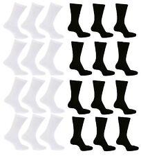Mens Womens Non Elastic Easy Grip Soft Top Black White Cotton Diabetic Socks