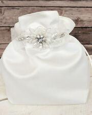 Crystal Pearl Satin Bride Money Dance Bag Brides Wedding Dollar Dance Bag
