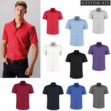 Da Uomo a Maniche Corte Oxford Camicia Di Forza Lavoro KK100