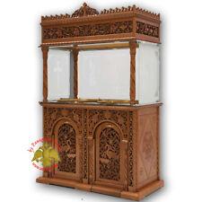 Orthodox Church Wooden Carved Double Votive Candle Tray Ø 60cm Opferkerzenhalter