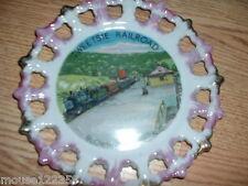 Tweetsie Railroad Train   State   Plate Souvenir reticulated nC