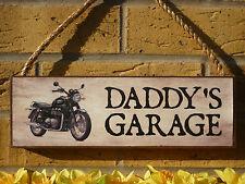 Personnalisé moto signe jardin signe unique bikers cadeau garage signe casques
