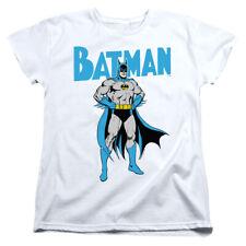 Batman Womens T-Shirt Pose White Tee